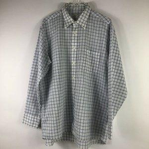 Christian Dior Button Shirt Sz 16 1/2 32/33 White